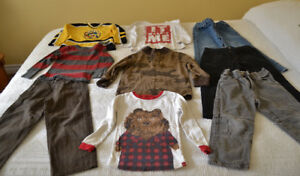 Fall / Winter boys shirts and pants, size 4T