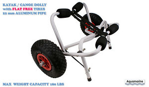 Kayak Canoe Dolly Trolley - FLAT FREE TIRES / UPDATED FRAME