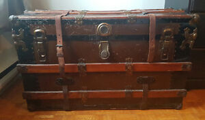 Wayfair late 1800's steamer coffee table top trunk