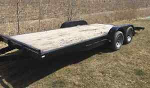 2012 Diamond C 7x18' Open Trailer With Ramps
