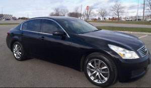 2007 Infiniti G35x Black leather Sedan