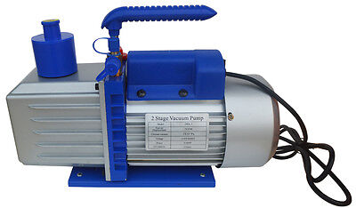 New 7 Cfm 110v 60hz 2-stage Rotary Vane Deep Vacuum Pump 34hp Free Shipping