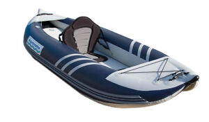 10 ft inflatable kayak with self bailing valves for whitewater k