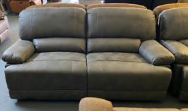 Grey 3 and 2 manual recliner set