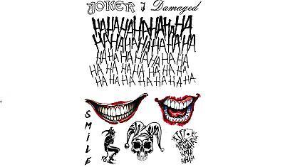 Der Joker Temporäre Tattoos Suicide Truppe Halloween Kostüm - Kostüm Tattoos