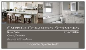 """Smith's Cleaning Services  """"No job too big or too small"""""""