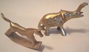 Brass Miniature Elephant & Rocking Horse