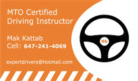 MTO Certified Professional Driving Instructor