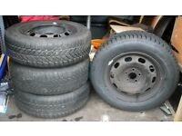 WINTER TYRES Debica Frigo 2 195/65 R15 95T M+S on Golf steel rims Passat Sharan