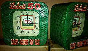 VTG INDUSTRIAL STYLE STEEL MESH LABATTS 50 & OLD VIENNA  CLOCK