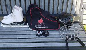 Skates, Helmet & Skate bag