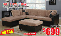 Piper 3pc Fabric Sectional Set, NowHalf Price $699 Tax Included!