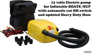 New Electric Air Pump for inflatable boat w/ Automatic Shut-OFF