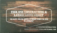 Tier One : General Contracting and Landscaping Division