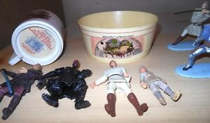 Indiana Jones, or Star Wars  Toy Figures Lot or Pins