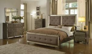8 PC Mirrored Queen Bedroom Set (ME228)