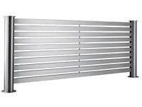 Accuro Korle Brushed Steel Radiator New Condition