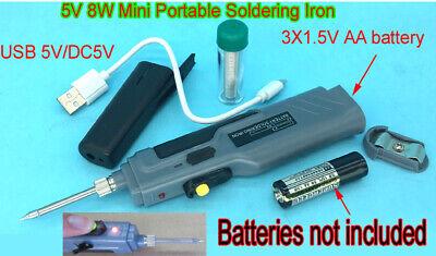 Set Soldering Iron 5v 8w Dual Powered Batterymobile Power Welding Repair Tools