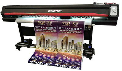 "1850mm 72"" Large Format Printer ECO Solvent DX5+RIP,Wide Banners Vinyls Outdoor"