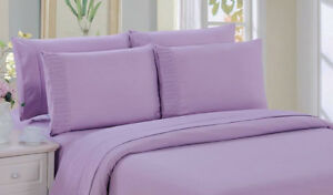 New -  6 pc Sheet Set - queen size available - Lilac