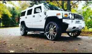 """2008 H2 Hummer SUV 4DR AWD - 28"""" Giovanni/Lexani Package"""