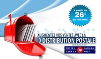 Distribution de flyers via Poste Canada ( 26$ )