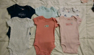 Newborn Carter's pants and onesies
