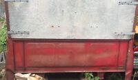 Red cargo trailer