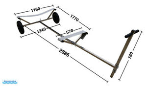 Stainless Steel Boat Dolly for small boats  Beach boat dolly
