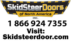 "Skidsteerdoor.com 1/2"" Lexan Doors for Cat Case ASV New Holland"