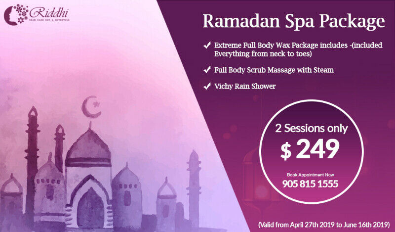 Massage,Wrap,Scrub,Facial,Bleach,waxing-Ramadan Eid Special