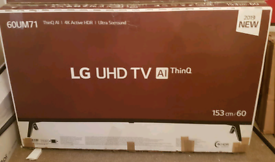 LG 60 inch 4k smart tv brand new boxed call 07550365232