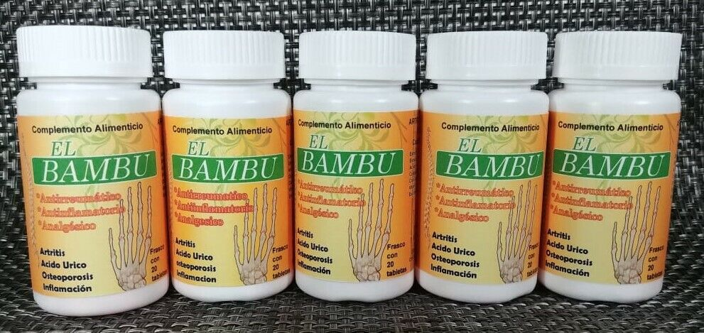 El BAMBU 5 PACK ANTIRHEUMATIC ANTIINFLAMMATORY ANALGESIC ARTHRITIS  1