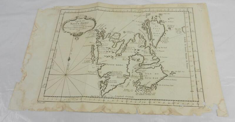 1758 Antique Map/SPITSBERG & SURROUNDING ISLANDS OF NORWAY
