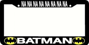 Batman License Plate Frame Ebay