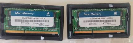 RAM Corsair Apple Certified 8GB (2x4GB) DDR3 1333 MHz Brunswick East Moreland Area Preview