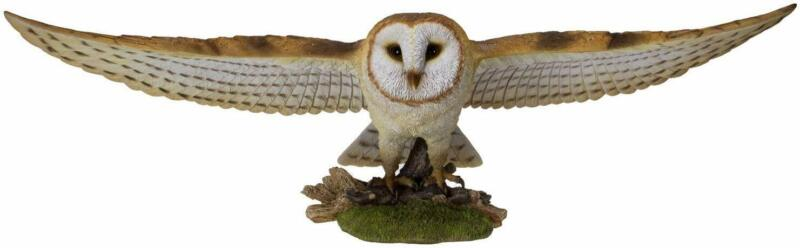 """Ebros Large 30"""" Wide Animal World Flying Open Wing Barn Owl Figurine Statue"""