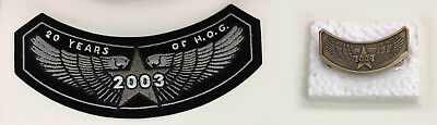 Harley Davidson 2003 HOG Owners Patch and Pin