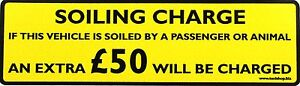 SOILING-CHARGE-STICKER-50-00-Black-on-Yellow-background