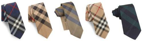"Mens Burberry Rohan Manston Check Pattern 2.75"" Slim Silk Neck Tie"