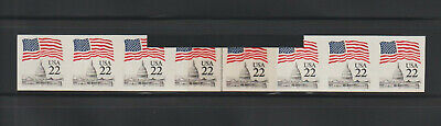 US ERROR Stamps: #2115f Flag Capitol. Imperf with black and clear splice! MNH