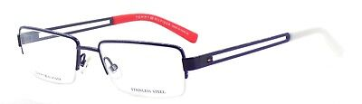 TOMMY HILFIGER TH 1024 UNX Men's Eyeglasses Frames Half-rim 52-17-140 Blue +CASE