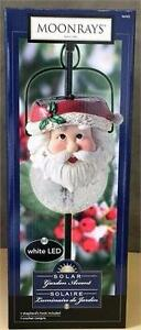 NEW, Moonrays Outdoor Solar Garden Accent White LED Santa Pendant- Model 96943