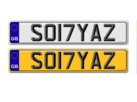 UNIQUE PRIVATE NUMBER PLATE SO17YAZ (SONYA) (SONIA) -