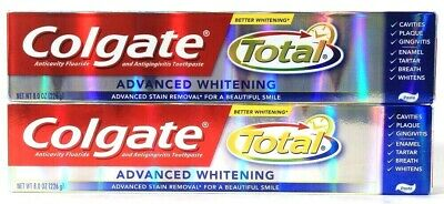 2 Colgate 8oz Total Better Advanced Whitening Anticavity & gingivitis