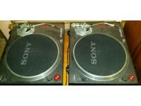 Two sony ps-dj9000 direct drive turntables