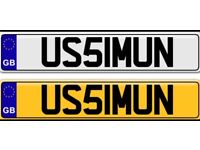 USMAN a name like no other one of a kind private number plate for sale