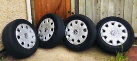 VW car wheels - excellent condition