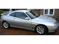 Alfa Romeo GTV 3.0 v6 Lusso mk2 2002, Metallic silver, Red MOMO leather interior