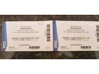 2 x Simple Minds Concert tickets